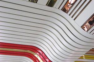 Реечный потолок луксалон