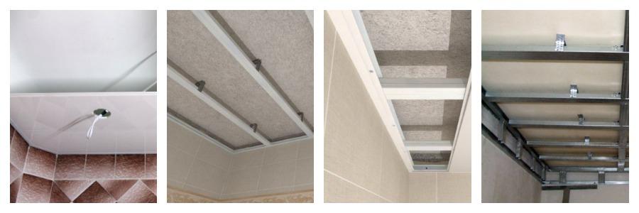 Монтаж подвесного потолка из панелей ПВХ