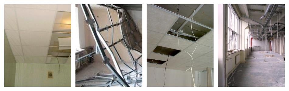Разборка подвесных потолков типа Армстронг