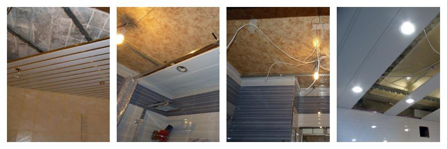 Монтажа подвесного реечного потолка