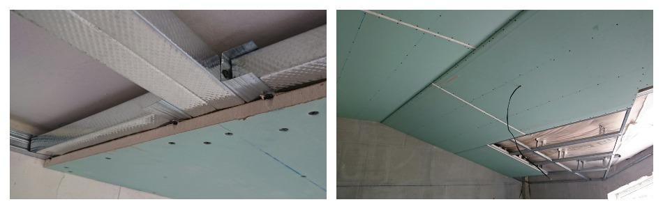 фиксация подвесного потолка