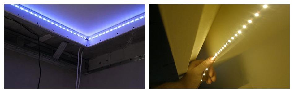 Как крепится светодиодная лента на подвесном потолке
