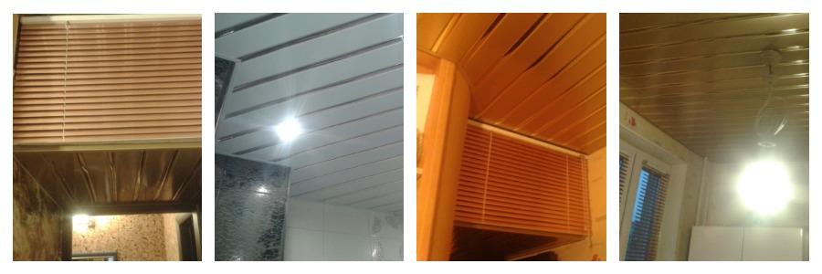 Монтаж подвесных потолков из алюминиевых реек