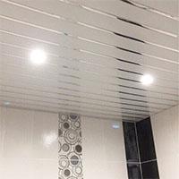 Подвесной потолоко хром с белым
